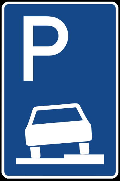 nach dem parken eines fahrzeugs