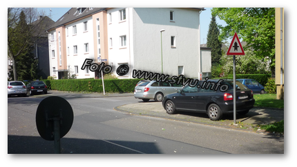andreaskreuz innerorts parken abstand
